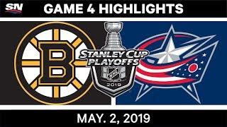 NHL Highlights | Bruins vs. Blue Jackets, Game 4 – May 2, 2019