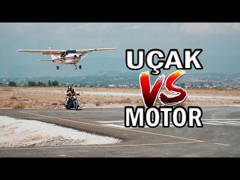 UÇAK vs MOTOR YARIŞI YAPTIK !! (DÜNYADA İLK ve TEK)
