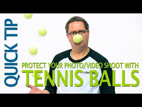Protect Your Photo/Video Shoot- Tennis Balls Quick Tip