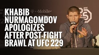 Khabib Nurmagomedov apologizes after post-fight brawl at UFC 229