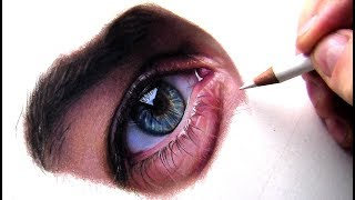 Drawing a Eye in Colored Pencil