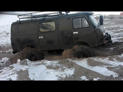 Жесткий УАЗ Буханка с мотором QD32! (UAZ Buhanka)
