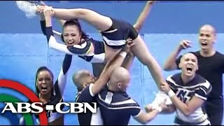 NU wins UAAP Group Stunts competition