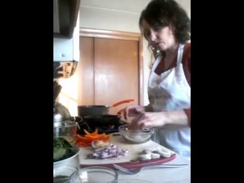 Cooking Demo - Garlic Shrimp with Red Peppers and Spinach