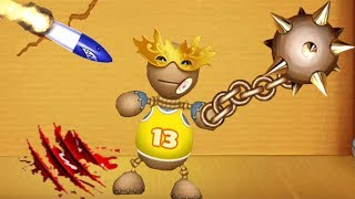 Kick The Buddy Hack: Unlimited Coins: Cold Weapons (Lance) & Explosives Shark Rocket - Android Game
