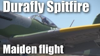 Barry maidens the Durafly Spitfire RC plane