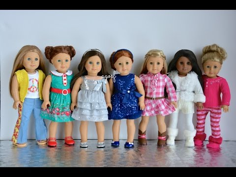 Dressing My American Girl Dolls In Their New Holiday Outfits! Hd Watch In Hd!