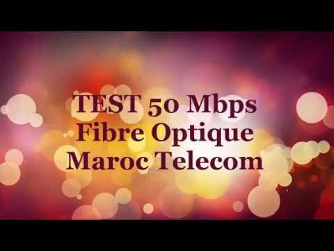 Internet Fibre Optique Maroc Telecom 50 mbps -Test speed -téléchargement d'un film