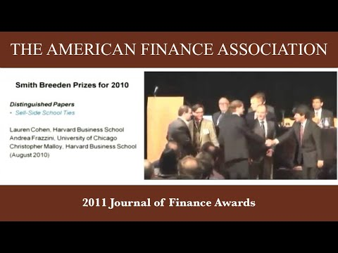 2011 Journal of Finance Awards