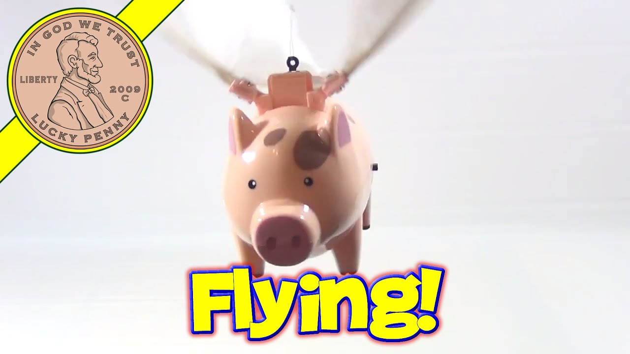Flying pig toy