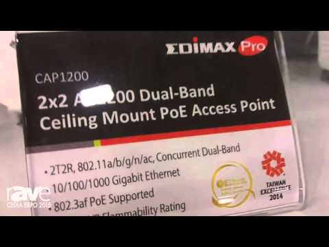 CEDIA 2015: Edimax Features 3×3 AC1750 Wi-Fi Access Point and 2×2 AC1200 Dual-Band PoE Access Point