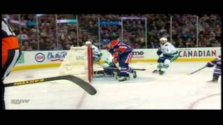 Ales Hemsky goal Feb 4 2013 Vancouver Canucks vs Edmonton Oilers NHL Hockey