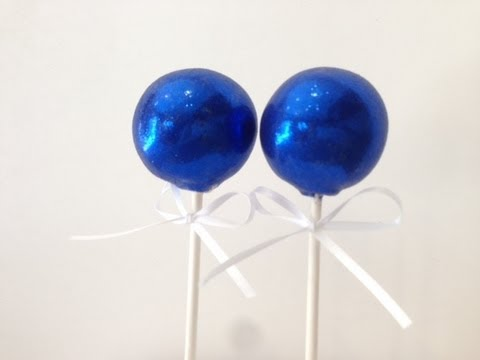 Blue And Black Cake Pops