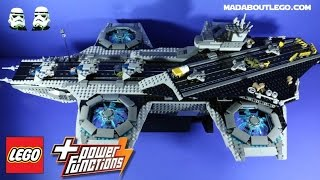 LEGO SUPER HEROES Helicarrier With Power Functions 76042 Stopmotion Review