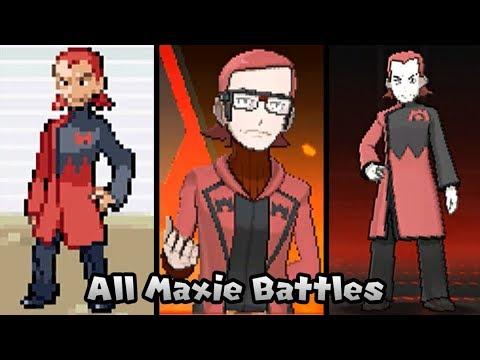 Pokémon Games - Every Leader Maxie Battles (1996 - 2016)