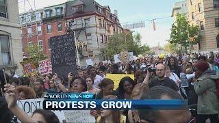 Baltimore Protests Spread to New York, Boston