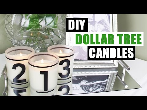 DIY DOLLAR TREE 1 2 3 CANDLES | Dollar Store DIY Candles | Dollar Tree DIY Home Decor