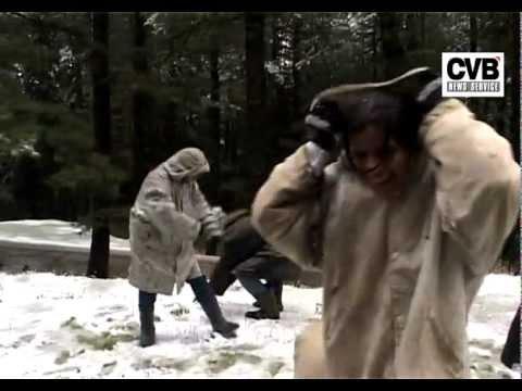 FIRST SNOWFALL OF SEASON IN KASHMIR VALLEY