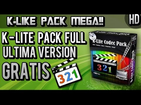 COMO DESCARGAR K-LITE CODEC PACK | 2015