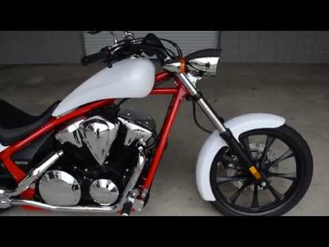 2014 Fury Chopper SALE / Honda of Chattanooga - TN / VT1300CX Matte Pearl White Fury