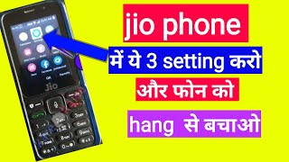 jio phone hanging problem solve do these three settings only by my digital world