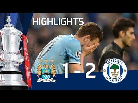 MANCHESTER CITY VS WIGAN ATHLETIC 1-2: Official goals and highlights FA Cup Sixth Round HD