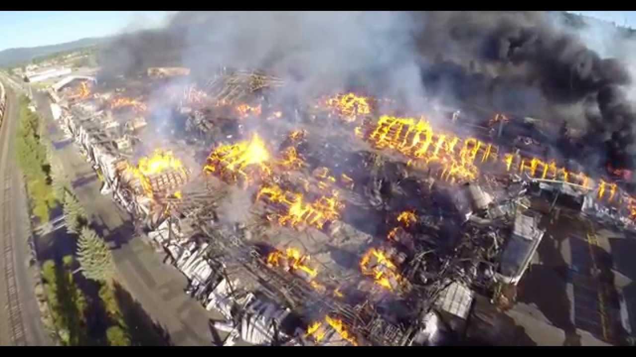 Springfield Oregon Swanson Mill Fire 7 17 14 Youtube