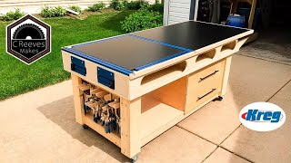 CReeves Makes the Mobile Outfeed Assembly Table with Kreg Features ep020