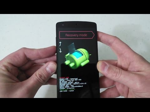 Google LG Nexus 5 Hard Factory Reset Bootloader Recovery Mode