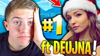 JE CARRY DEUJNA COMME UN FOU SUR CE TOP 1 FORTNITE BATTLE ROYALE !!!