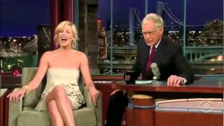 David Letterman interacting with his female guests: supercut