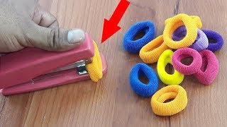 Amazing decorating idea with Hair rubber bands | DIY art and craft | DIY HOME DECO