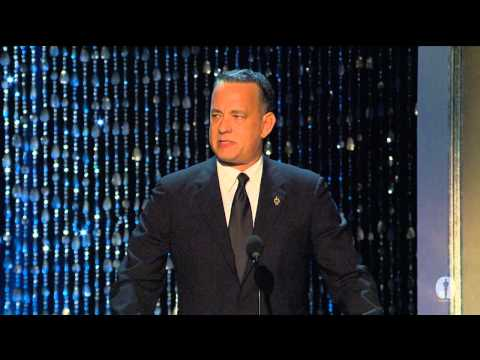 Tom Hanks honors Jeffrey Katzenberg at the 2012 Governors Awards