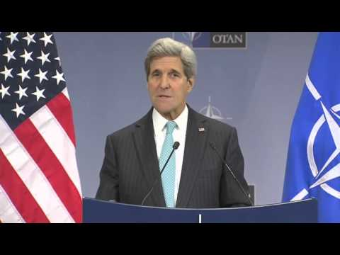 Secretary Kerry Delivers Remarks to the Press at NATO