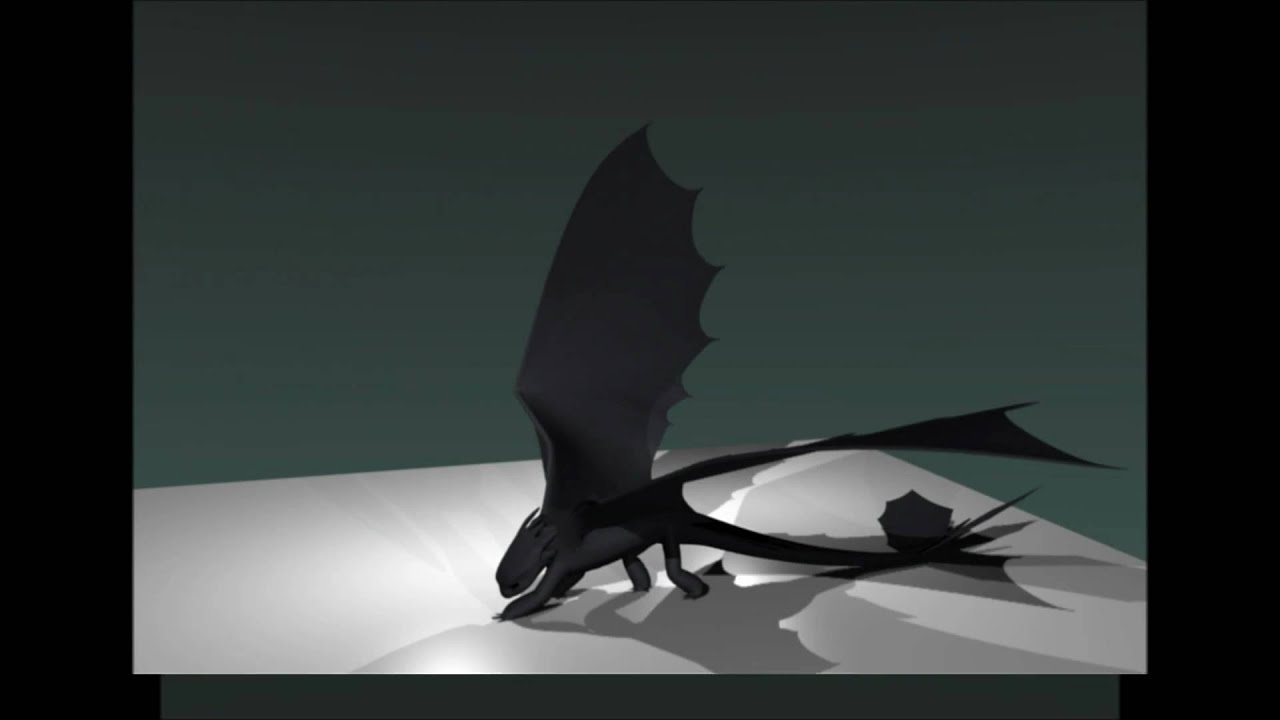 Blender Night Fury Dragon 3d Model Wip Youtube