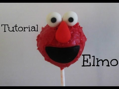 Paleta De Pastel **ELMO**(Cake Pop) Tutorial