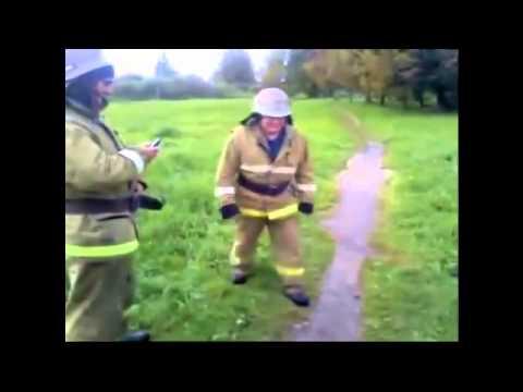 Пожарные отжигают в свободное от работы время