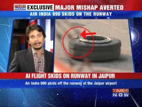 Jaipur Airport Runway Skids Off Runway in Jaipur