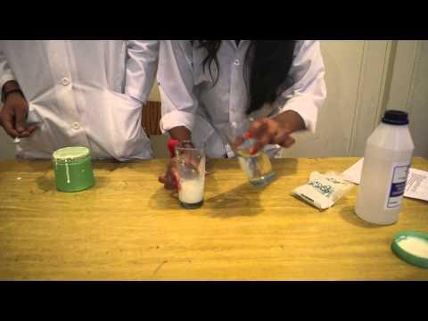 Experimento de Polímeros (la pelota saltarina) 4º Medio