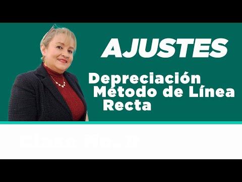 42. Depreciación Método de Línea Recta y Ejemplos : ElsaMaraContable