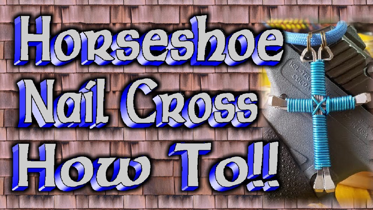 How to Make Horseshoe Nail Cross Necklaces
