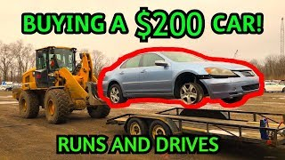 I Bought the Cheapest Run And Drive Car from Copart Salvage Auto Auction!