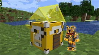 Minecraft Lucky Block House Mod Spawn Lucky Block Houses And Survive Minecraft