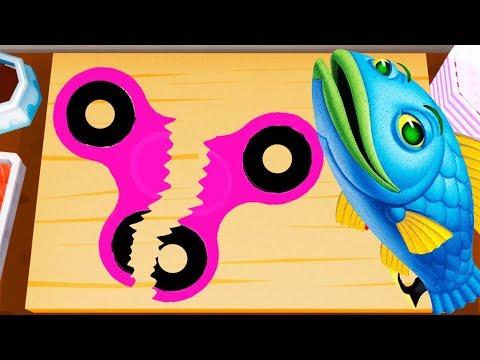 ГОТОВКА ЧЕЛЛЕНДЖ суши роллы СПИННЕР / КРИПЕР из МАЙНКРАФТ игры для детей KIDS CHILDREN
