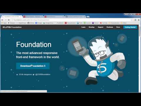 Foundation for Responsive Web Design Tutorial - 1 - Getting Started