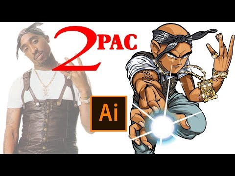 How To Make Yourself Into A DBZ Character!- Step By Step /2Pac Tutorial ( ADOBE ILLUSTRATOR )