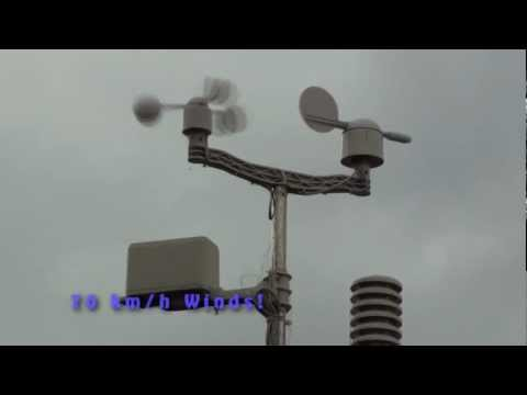 Comantenna in 70 kph Winds (720P High Definition)
