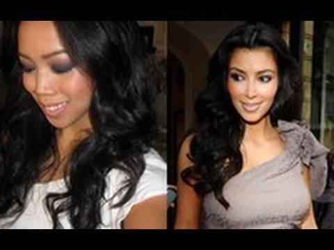 Kim Kardashian inspired hair tutorial