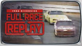 1986 Winston Western 500 at Riverside International Raceway NASCAR Classic Full Race Replay