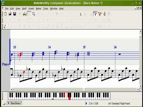 The Sims 2 Bare Bones on NoteWorthy Composer 2